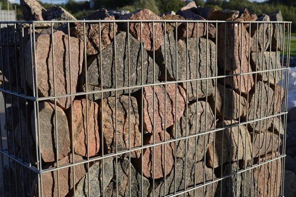 akmens šķembas gabiona aizpildīšanai